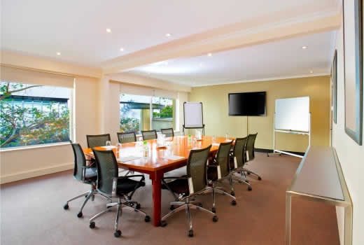 The Boardroom of Holiday Inn Potts Point Sydney, ideal for small meetings up to 12 delegates.
