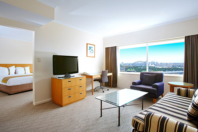 Family accommodation in Sydney, suite at Holiday inn Potts Point
