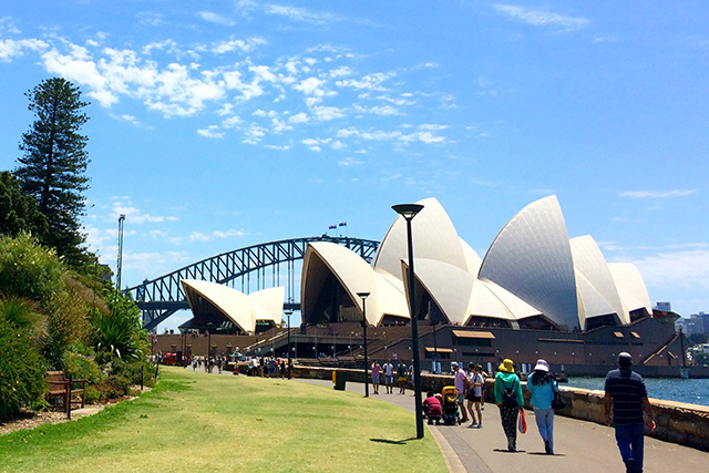 Photograph of Circular Quay foreshore by Sydney Opera House