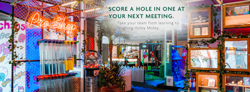Holey Moley and Meetings at Holiday Inn Potts Point