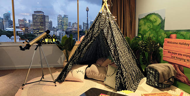 Holiday Inn Potts Point Family Glamping package