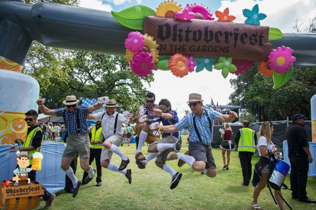 Oktoberfest in the Gardens at The Domain, Sydney
