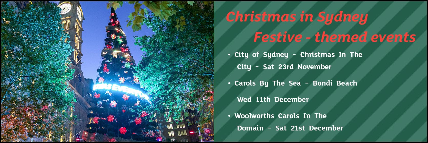 Christmas themes events in Sydney, 2019