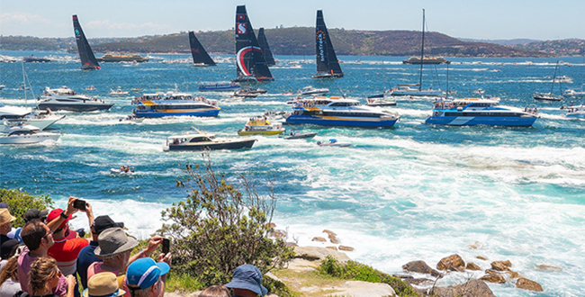 Crowds enjoying the start of the 2018 Sydney to Hobart Yacht Race from South Head, Watsons Bay, Destination NSW