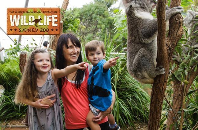 Young family at WILDLIFE Sydney Zoo, Sydney