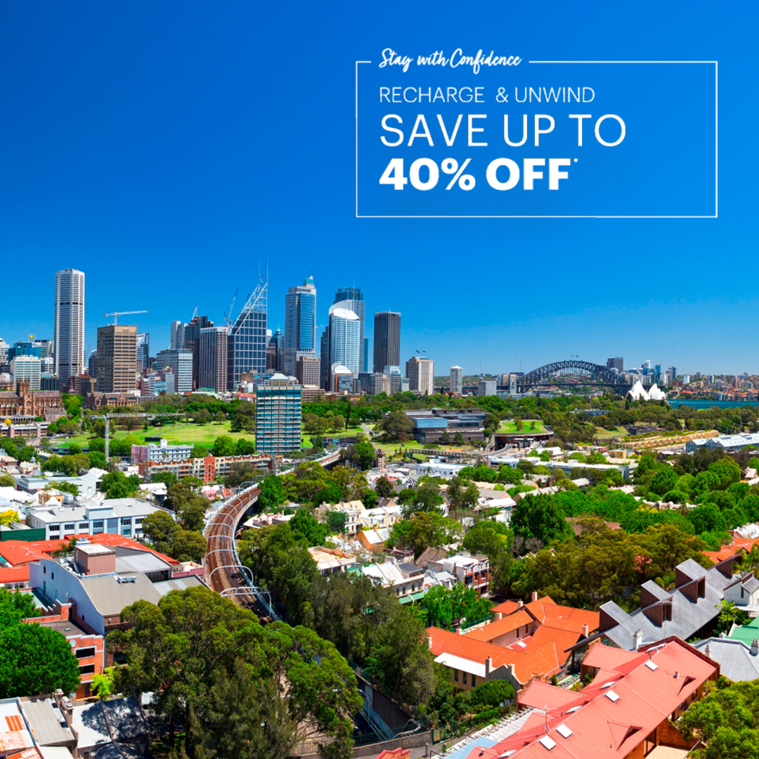 Recharge & Unwind. Sydney summer accommodation in Holiday Inn Potts Point
