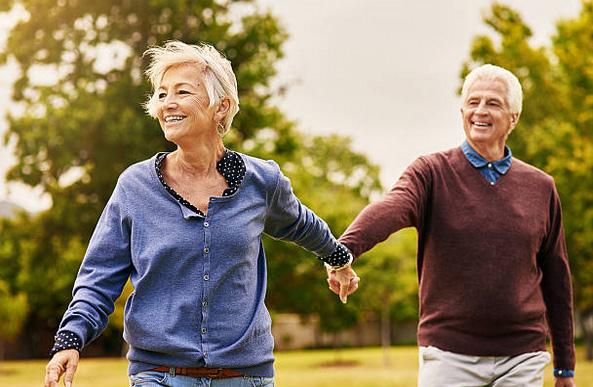 Seniors holding hands in Sydney