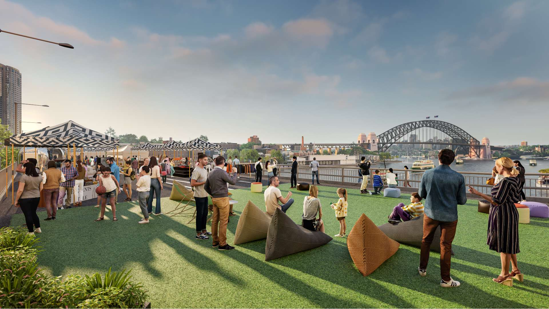 Architectural mapping of Cahill Expressway, sourced via Concrete Playground