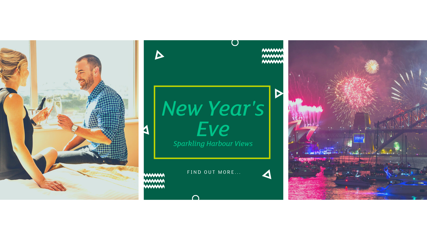 Harbour View Room│New Year's Eve 2021│Holiday Inn Potts Point - Sydney